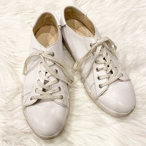 Nine West White Leather Sneakers Size 7
